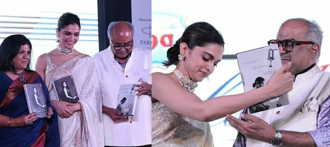 Sridevi's Book Launch: Deepika Consoles Teary Eyed Boney Kapoor